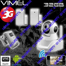 House Security Camera System 3G GSM Wireless Surveillance Alarm Farm Remote View