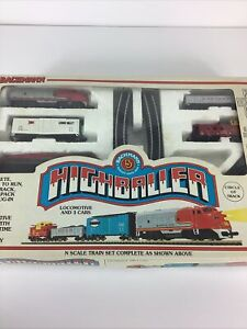 VTG Bachmann Highballer N SCALE Train Set IN BOX 24300 Missing 1 Track For PARTS