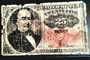 1874 25¢ Cents Fifth Issue U.S. Fractional Currency