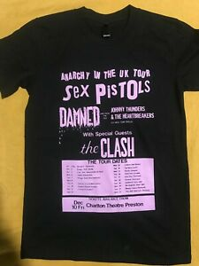 VINTAGE SEX PISTOLS ANARCHY TOUR T-Shirt. Punk, The Clash, The Damned, Second