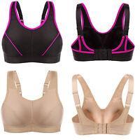 Women Sports Bra Full Coverage Wireless Bra Running Gym Top Fitness High Impact