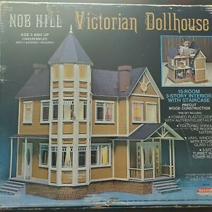 """Vintage Nob Hill Victorian Dollhouse Kit Skilcraft 689 1"""" to 1' Scale"""