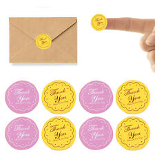 """120x Round Letter """"Thank you"""" Paper Label Bag Seal Adhesive Sticker Craft 2.7CM"""