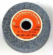 CARBORUNDUM GRINDING WHEEL DA60-J7-V20 , 3 1/2 X 1 1/2 X 5/8, 6248 MAX RPM