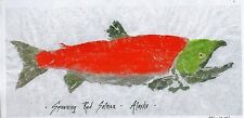 GYOTAKU Fisch Rubbing - Spawning Red Salmon