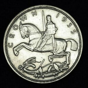 """George V """"Rocking Horse"""" crown 25th anniversary 1935 925 silver"""