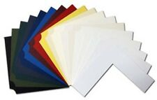 """100 Assorted Colour 6""""x8"""" Backing Mat Boards NO WINDOW"""