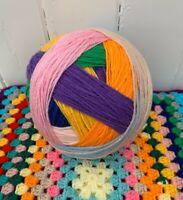 Wool Yarn Ball DK Random Multi Colours Prewound 350g Crochet Knitting Craft