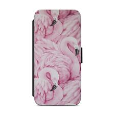 PINK FLAMINGO PRINT ART WALLET FLIP PHONE CASE COVER FOR IPHONE SAMSUNG      s56