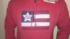 Life is Good  Mens Go-To pullover Hoodie red size M new