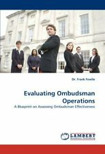 Evaluating Ombudsman Operations. Fowlie, Frank 9783844314489 Free Shipping.#