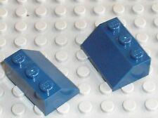 2 x LEGO NavyBlue Slope Brick ref 3038 / 31045 41094 31035 31009 10225 5891 4770