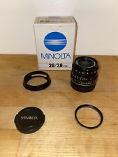 Free Shipping. Minolta M Rokkor 28mm F2.8 for Leica M mount Boxed with Lens Hood