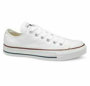 Converse All Star Ox Trainers Canvas White Black UK Size 3 4 5 6 7 8 9 10 11 NEW