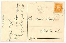 BF136 1909 Norway *OKSNA* Postcard Illustrated {samwells-covers}