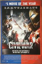 CAPTAIN AMERICA CIVIL WAR DVD MOVIE POSTER 1 Sided ORIGINAL 26x40 CHRIS EVANS