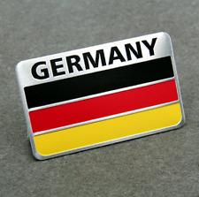 "ALUMINUM German Flag Emblem Sticker 3D Decal For Auto, Car, & Truck 3.15""x2"""