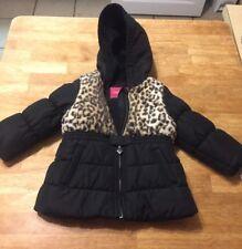 London Fog Baby Girl Jacket 18m Balck With Leopard Print