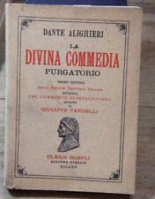 Italian DANTE ALIGHIERI LA DIVINA COMMEDIA INFERNO PURGATORIO PARADISO HOEPLI