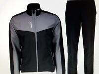 Reebok Small Woven Suit SLIM FIT Sports Suit Mens Tracksuit Black..