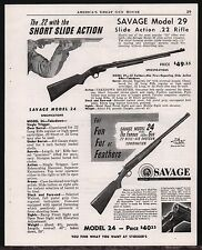1952 SAVAGE Model 29 Rifle & 24 Over Under Shotgun/Rifle Combination AD