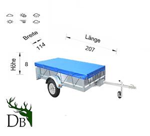 Anhängerplane Flachplane+Gummigurt-Stema 207x114x8-PKW Anhängerplane DB