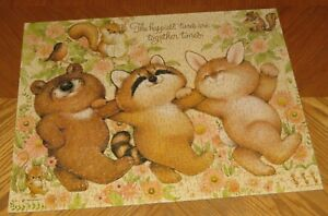 Vintage Springbok 500 Piece Puzzle - Happiest Times Together Animals - Assembled