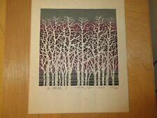 "Gravure originale signée FOUJITA, datée 1982 ; N° 111/200 ""Tree"""