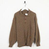 Vintage YVES SAINT LAUREN Wool Sweatshirt Jumper Brown   Medium M