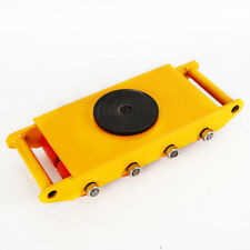 New Yellow 360°Machinery Mover 12T 26400Lb Heavy Duty Machine Dolly Skate Roller