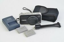 GOOD CANON POWERSHOT SX230 HS 12.1MP 14x ZOOM DIGITAL CAMERA, 2BATTS, CASE, POD