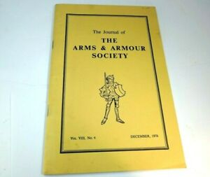 Journal of the Arms & Armour Society Vol VIII No 6 1976