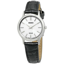 Seiko Solar White Dial Ladies Watch SUP299