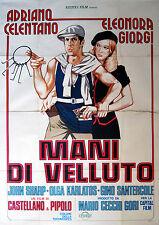 Adriano Celentano Eleonora Giorgi MANI DI VELLUTO manifesto 4F originale 1979