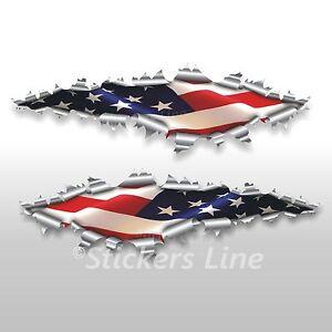 Adesivi bandiera AMERICANA American flag stickers cm 22