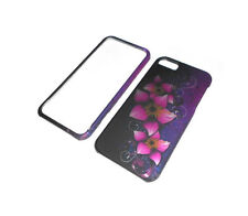 NEW PINK FLOWER RIGID PLASTIC 2-PIECE IPHONE 5 5S CASE SUPER FAST SHIPPING