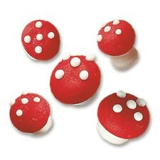 EDIBLE TOADSTOOL SUGAR CAKE DECORATIONS