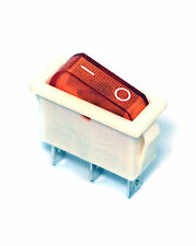 5pc Rocker Switch R12 On-Off 3P 16A 125/250VAC Cap= Orange R121-12C-27 PRONIC