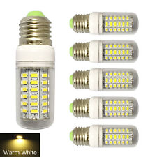 6Pack 7W E27 LED Corn Lamp Bulb w/Cover 56SMD 5730 Light 110V Warm White
