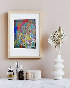 Explosion of Emotions- Vibrant Textured Abstract Hand Painting on 12x9 Canvas.