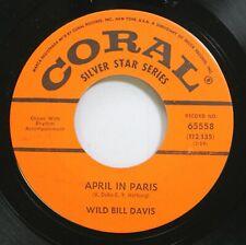 Jazz Nm! 45 Wild Bill Davis - April In Paris / Manhattan On Coral