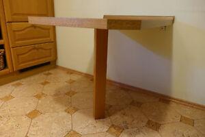 Küchentisch Wandtisch ECKTISCH Einbein TOP Zustand