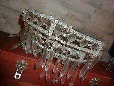LUSTRE BACCARAT- rangs de pampilles-cristal ancien