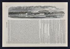 Harper Civil War Print - Fort Johnson seen from Sumter Charleston South Carolina
