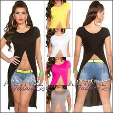 Polyester Short Sleeve Crop Tops for Women