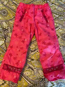 Obermeyer ski pants- hot pink pull on- EUC- IGrow- Girls size 6