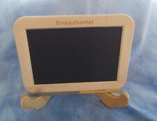 """gute Schiefertafel """"Einkaufszettel"""", ca. 14x19 cm, Schiefergriffel & Aufsteller"""