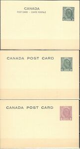 Canada, Post Cards, George Vi  X 3 .....B-JN14-013