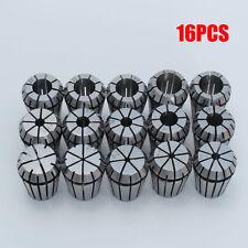 16Pcs Steel ER25 1-16MM Spring Collet Set For CNC Engraving Milling Lathe Tool