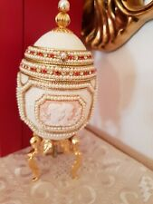 Faberge Only One Antique Music Jewelry Gem Goose Egg Handcrafted 24K Gold Gift